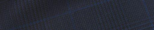 【Hs_0pc47】ダークネイビー黒グレンチェック+6×4.5cmブルーペーン