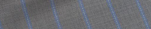 【Hs_0pc52】ライトグレー+1.8cm巾ライトブルー・白ドットストライプ