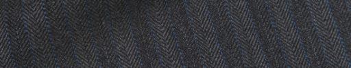 【Hs_0pc61】チャコールグレー5ミリ巾ブロークンヘリンボーン+ブルーストライプ