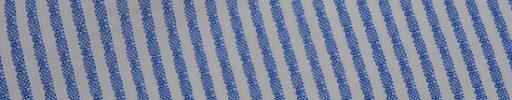 【Ca_11s037】オフホワイト+2ミリ巾ブルーストライプ