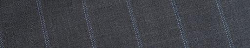 【Dov_1s30】ミディアムグレーシャドウストライプ柄+2.1cm巾ライトブルーストライプ