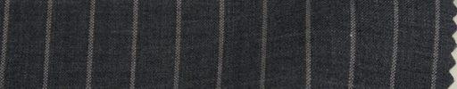 【Ks1453】チャコールグレー+1.2cm巾ストライプ