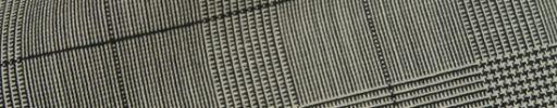 【Hs_1st15】白黒5.5×4.5cmグレンチェック+黒チェック