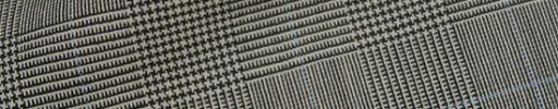 【Hs_1st16】白黒4.5×3.8cmグレンチェック+ライトブルーチェック