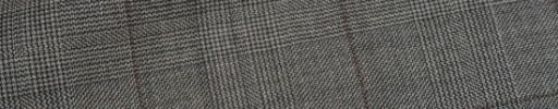 【Ca_11w032】白黒6.5×4.5cmグレンチェック+ブラウンチェック