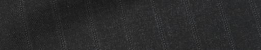 【Ca_11w039】ダークグレー+1.5cm巾織り・ドットストライプ