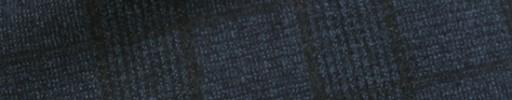 【Ca_12w07】ネイビー6.5×5cmグレンチェック+こげ茶チェック