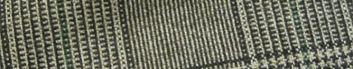 【Hk1w30】オフホワイト・黒8×7cmグレンチェック+グリーンペーン