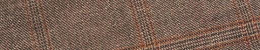【Ej1w037】レッドブラウン+6×5cmダークオレンジ・織りチェック