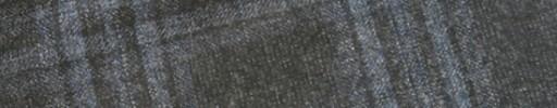 【Ej1w044】チャコールグレー+6.5×6cmライトブルーチェック