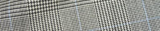 【Hre_1w20】白黒グレンチェック+7×5cmライトブルーペーン