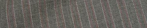 【Hre_1w27】ミディアムグレー柄+6ミリ巾赤・白ストライプ