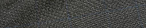 【Hre_1w52】チャコールグレー6.5×5.5cmグレンチェック+ブルーペーン