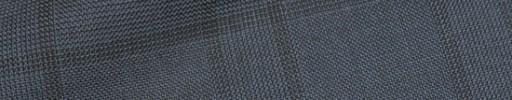 【Hre_1w54】ブルーグレーグレンチェック+7.5×5.5cmブラックペーン